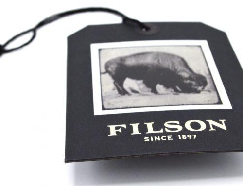 Filson hangtag close up